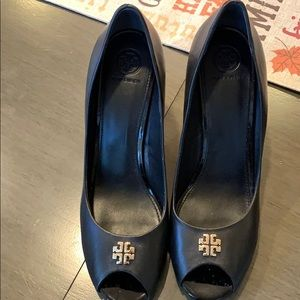 Tory Burch peep toe heels